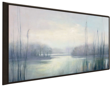Misty Memories by Julia Purinton Print on Canvas in Floating Frame Landscapes,Gray art,Landscape Shape,All Floating Canvas,Julia Purington