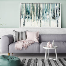 Winter Woods III Light Trees Crop by Julia Purinton Print on Canvas in Floating Frame Landscapes,White art,Landscape Shape,All Floating Canvas,Julia Purington