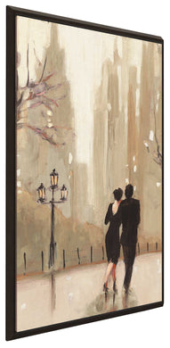 An Evening Out Neutral II by Julia Purinton Print on Canvas in Floating Frame Cityscapes,Romance,Brown art,Portrait Shape,All Floating Canvas,Julia Purington