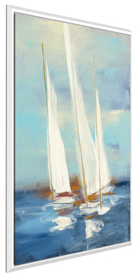 Summer Regatta III by Julia Purinton Print on Canvas in Floating Frame Sea and Shore,Blue art,Portrait Shape,All Floating Canvas,Julia Purington