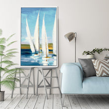 Horizon III by Julia Purinton Print on Canvas in Floating Frame Sea and Shore,Blue art,Portrait Shape,All Floating Canvas,Julia Purington