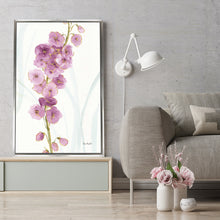 Rainbow Seeds Flowers VII by Lisa Audit Print on Canvas in Floating Frame Floral,White art,Portrait Shape,All Floating Canvas,Lisa Audit
