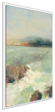 Point Lobos Crop by Julia Purinton Print on Canvas in Floating Frame Sea and Shore,Green art,Portrait Shape,All Floating Canvas,Julia Purington