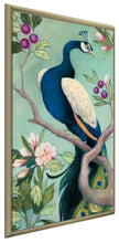 Pretty Peacock I by Julia Purinton Print on Canvas in Floating Frame Floral,Green art,Portrait Shape,All Floating Canvas,Julia Purington