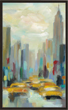 Manhattan Sketches II V by Silvia Vassileva Print on Canvas in Floating Frame Cityscapes,Blue art,Portrait Shape,All Floating Canvas,Silvia Vassileva