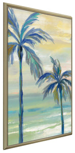 Marine Layer Palms III by Silvia Vassileva Print on Canvas in Floating Frame Landscapes,Green art,Portrait Shape,All Floating Canvas,Silvia Vassileva