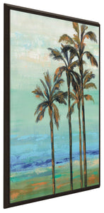 Copper Palms I by Silvia Vassileva Print on Canvas in Floating Frame Landscapes,Blue art,Portrait Shape,All Floating Canvas,Silvia Vassileva