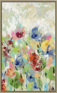 Springtime Meadow Flowers III by Silvia Vassileva Print on Canvas in Floating Frame Floral,Green art,Portrait Shape,All Floating Canvas,Silvia Vassileva