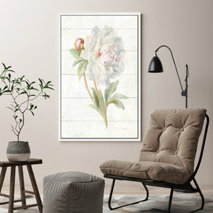 June Blooms II Print on Canvas in Floating Frame Floral,White art,Portrait Shape,All Floating Canvas,Danhui Nai