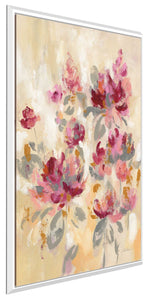 Floral Reflections II by Silvia Vassileva Print on Canvas in Floating Frame Floral,Pink art,Portrait Shape,All Floating Canvas,Silvia Vassileva