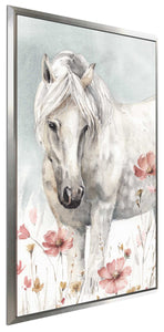 Wild Horses II Crop by Lisa Audit Print on Canvas in Floating Frame Animals,Gray art,Portrait Shape,All Floating Canvas,Lisa Audit