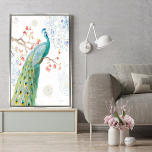 Jaipur I Print on Canvas in Floating Frame Animals,White art,Portrait Shape,All Floating Canvas,Danhui Nai