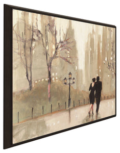 An Evening Out Neutral I by Julia Purinton Print on Canvas in Floating Frame Cityscapes,Romance,Brown art,Square Shape,All Floating Canvas,Julia Purington