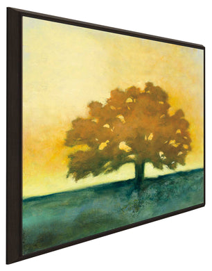 Under the Oak II by Julia Purinton Print on Canvas in Floating Frame Landscapes,Yellow art,Square Shape,All Floating Canvas,Julia Purington