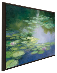 Blue Lily I by Julia Purinton Print on Canvas in Floating Frame Landscapes,Green art,Square Shape,All Floating Canvas,Julia Purington