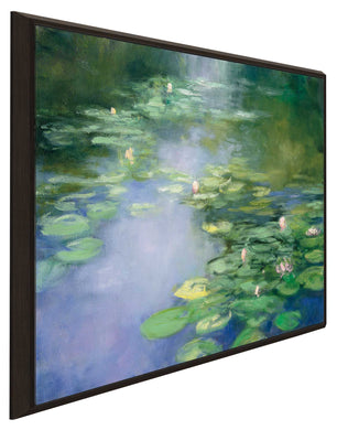 Blue Lily II by Julia Purinton Print on Canvas in Floating Frame Landscapes,Green art,Square Shape,All Floating Canvas,Julia Purington