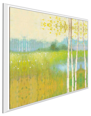 Spring Fling II by Julia Purinton Print on Canvas in Floating Frame Landscapes,Green art,Square Shape,All Floating Canvas,Julia Purington