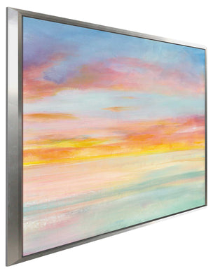 Pastel Sky I Print on Canvas in Floating Frame Abstract,Blue art,Square Shape,All Floating Canvas,Danhui Nai
