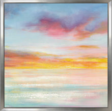 Pastel Sky II Print on Canvas in Floating Frame Abstract,Blue art,Square Shape,All Floating Canvas,Danhui Nai