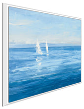 Open Sail with Turquoise II by Julia Purinton Print on Canvas in Floating Frame Sea and Shore,Blue art,Square Shape,All Floating Canvas,Julia Purington
