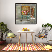 French Flowershop Print on Canvas in Floating Frame Food and beverage,Gray art,Square Shape,All Floating Canvas,Danhui Nai