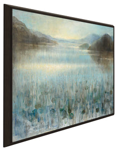 Through the Mist I Print on Canvas in Floating Frame Landscapes,Blue art,Square Shape,All Floating Canvas,Danhui Nai