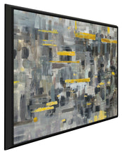 Reflections Crop I Print on Canvas in Floating Frame Abstract,Gray art,Square Shape,All Floating Canvas,Danhui Nai