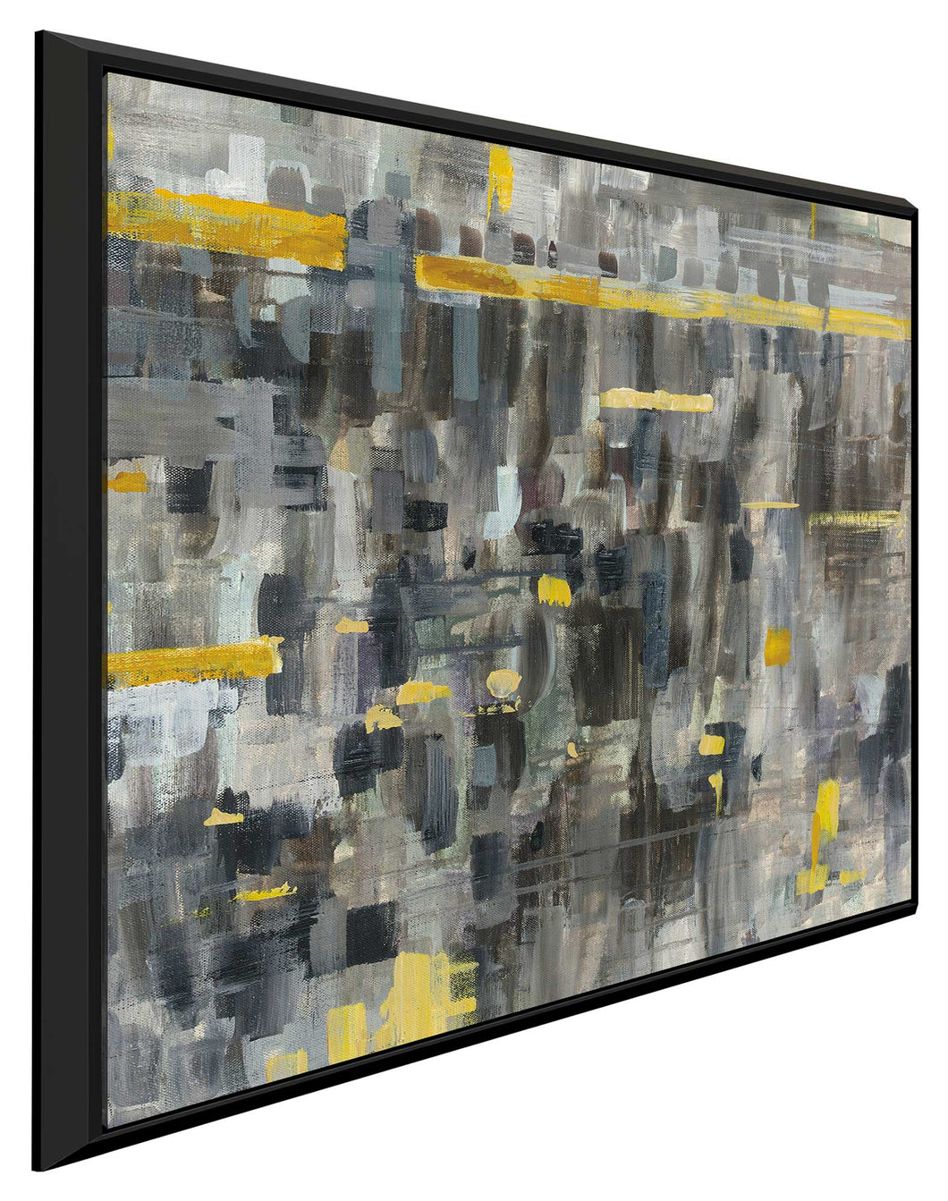 Reflections Crop II Print on Canvas in Floating Frame Abstract,Gray art,Square Shape,All Floating Canvas,Danhui Nai
