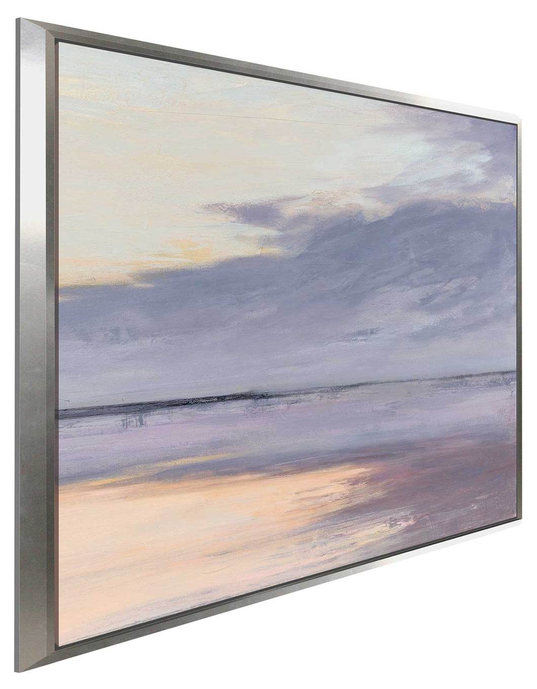 Shore I by Julia Purinton Print on Canvas in Floating Frame Sea and Shore,Purple art,Square Shape,All Floating Canvas,Julia Purington