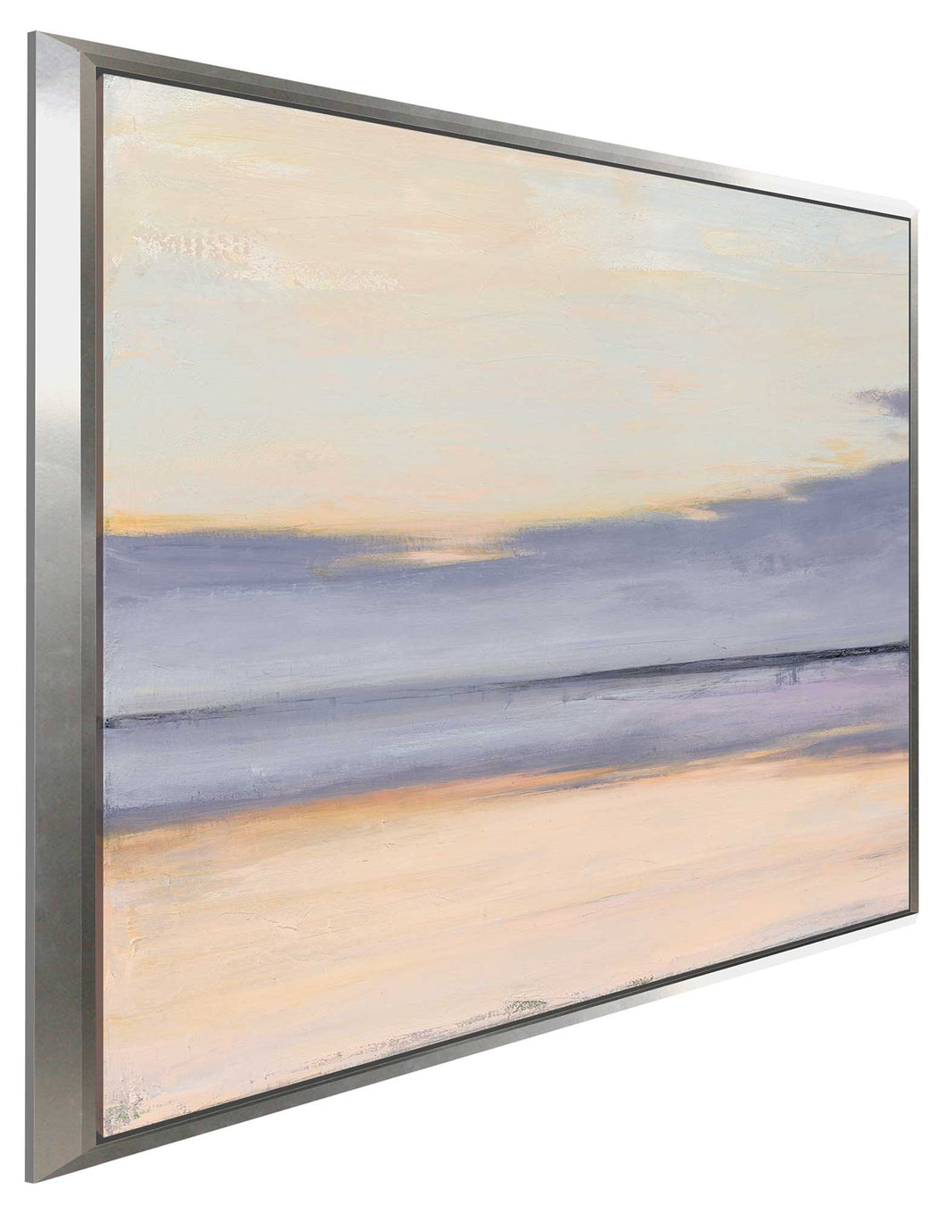 Shore II by Julia Purinton Print on Canvas in Floating Frame Sea and Shore,Purple art,Square Shape,All Floating Canvas,Julia Purington