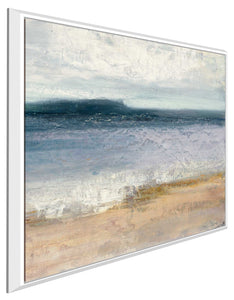 Indigo Isle I by Julia Purinton Print on Canvas in Floating Frame Sea and Shore,Blue art,Square Shape,All Floating Canvas,Julia Purington