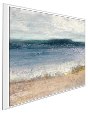 Indigo Isle II by Julia Purinton Print on Canvas in Floating Frame Sea and Shore,Blue art,Square Shape,All Floating Canvas,Julia Purington