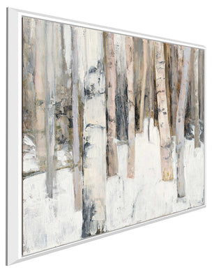 Warm Winter Light I by Julia Purinton Print on Canvas in Floating Frame Landscapes,White art,Square Shape,All Floating Canvas,Julia Purington