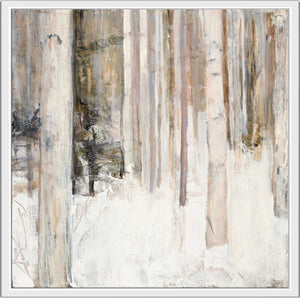 Warm Winter Light II by Julia Purinton Print on Canvas in Floating Frame Landscapes,White art,Square Shape,All Floating Canvas,Julia Purington