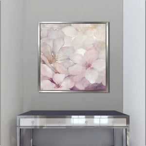 Apple Blossoms I by Julia Purinton Print on Canvas in Floating Frame Floral,Pink art,Square Shape,All Floating Canvas,Julia Purington