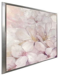 Apple Blossoms II by Julia Purinton Print on Canvas in Floating Frame Floral,Pink art,Square Shape,All Floating Canvas,Julia Purington