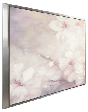 Cherry Blossoms I by Julia Purinton Print on Canvas in Floating Frame Floral,Gray art,Square Shape,All Floating Canvas,Julia Purington