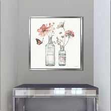 A Country Weekend X by Lisa Audit Print on Canvas in Floating Frame Floral,White art,Square Shape,All Floating Canvas,Lisa Audit