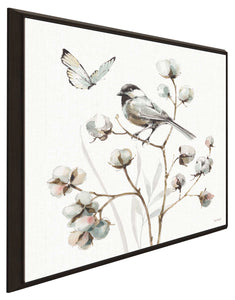 A Country Weekend XVII by Lisa Audit Print on Canvas in Floating Frame Floral,White art,Square Shape,All Floating Canvas,Lisa Audit