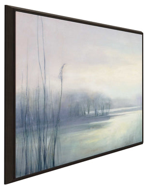 Misty Memories I by Julia Purinton Print on Canvas in Floating Frame Landscapes,Gray art,Square Shape,All Floating Canvas,Julia Purington