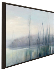 Misty Memories II by Julia Purinton Print on Canvas in Floating Frame Landscapes,Gray art,Square Shape,All Floating Canvas,Julia Purington