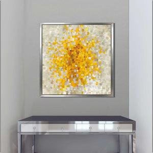 Summer Blocks Print on Canvas in Floating Frame Abstract,Yellow art,Square Shape,All Floating Canvas,Danhui Nai