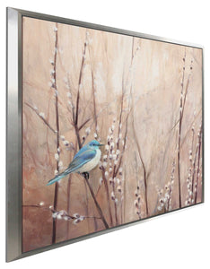 Pretty Birds II by Julia Purinton Print on Canvas in Floating Frame Floral,Brown art,Square Shape,All Floating Canvas,Julia Purington