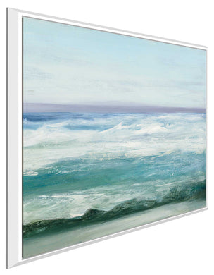 Azure Ocean I by Julia Purinton Print on Canvas in Floating Frame Sea and Shore,Blue art,Square Shape,All Floating Canvas,Julia Purington