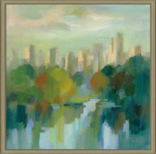 Manhattan Sketches IV by Silvia Vassileva Print on Canvas in Floating Frame Cityscapes,Green art,Square Shape,All Floating Canvas,Silvia Vassileva