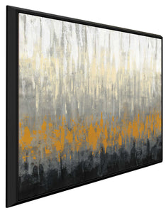 Rain on the Asphalt by Silvia Vassileva Print on Canvas in Floating Frame Abstract,Gray art,Square Shape,All Floating Canvas,Silvia Vassileva