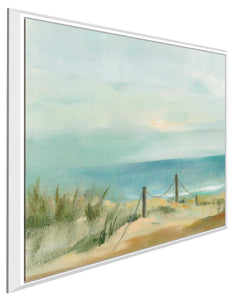 Serenity on the Beach II by Silvia Vassileva Print on Canvas in Floating Frame Sea and Shore,Blue art,Square Shape,All Floating Canvas,Silvia Vassileva