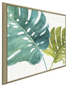 Mixed Greens LXXV by Lisa Audit Print on Canvas in Floating Frame Floral,Green art,Square Shape,All Floating Canvas,Lisa Audit
