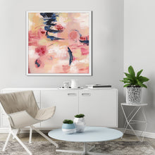 Sakura I by Silvia Vassileva Print on Canvas in Floating Frame Abstract,Pink art,Square Shape,All Floating Canvas,Silvia Vassileva