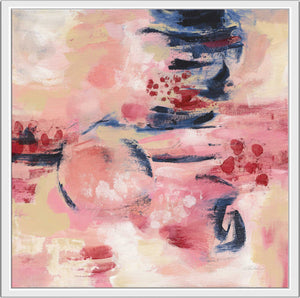 Sakura II by Silvia Vassileva Print on Canvas in Floating Frame Abstract,Pink art,Square Shape,All Floating Canvas,Silvia Vassileva